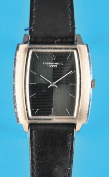 Rechteckige Eterna Matic Stahl-3003 Automatic-Stahlarmbanduhr,